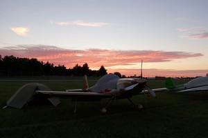 Sunset in Homebuilt Camping